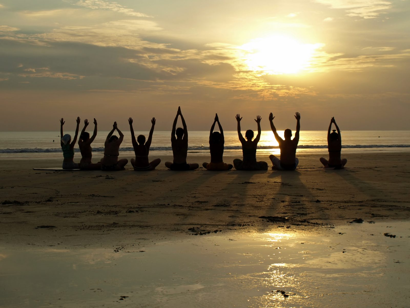 Folly Beach Island Yoga Bachelorette Party Class