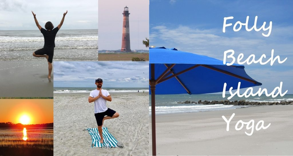 Things to do on folly beach yoga class lighthouse sunset