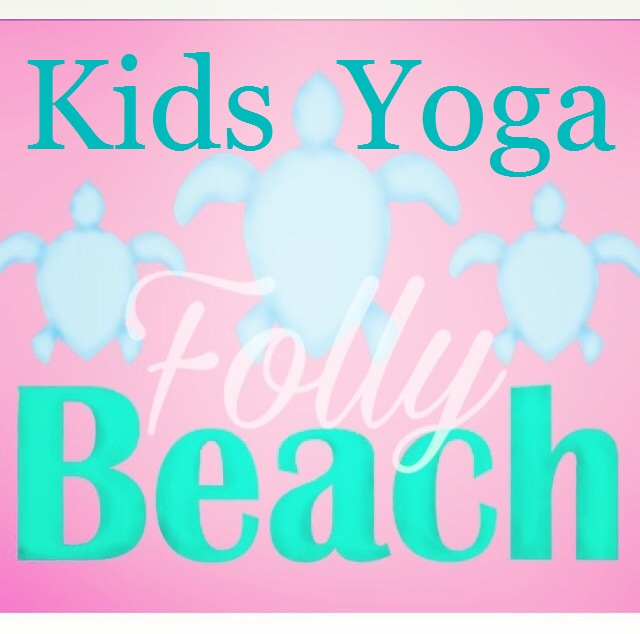 Folly Beach Island Yoga Kids Class Classes Sea Turtles Pink